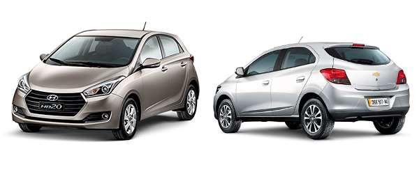 Hyundai HB20 e Chevrolet Onix são os queridinhos do Brasil
