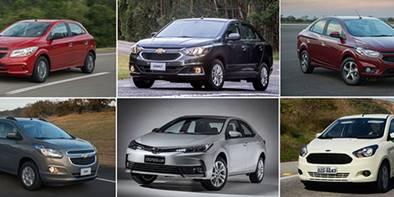 Os 10 carros mais vendidos no Brasil em junho de 2020