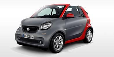 Smart agora é conversível na versão ForTwo Cabriolet