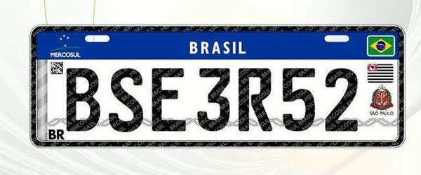 placas do Mercosul